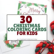 Free Christmas Coloring Cards Printables