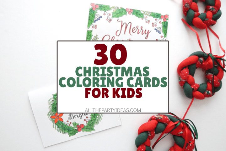 30 Christmas Cards To Color Free Printables