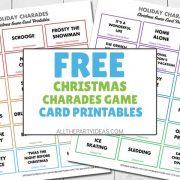 Christmas Charades Printable Word List of Ideas - Carol, Movies, Characters & More