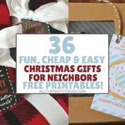 Best DIY Neighbor Christmas Presents - Cheap Food, Non-Food, Last Minute Ideas