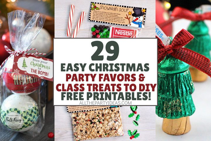 29 Easy Diy Christmas Party Favors Treat Ideas Free Printables