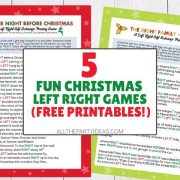 Christmas Right Left Passing Gifts Exchange Game Ideas - Free Printable