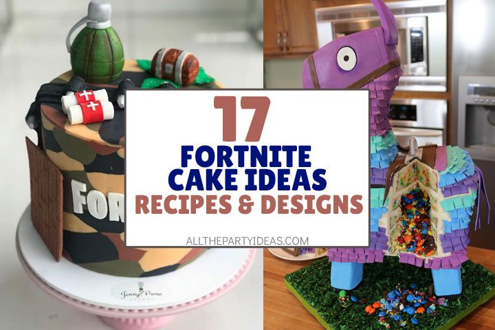 fortnite cake ideas, recipes, decorations