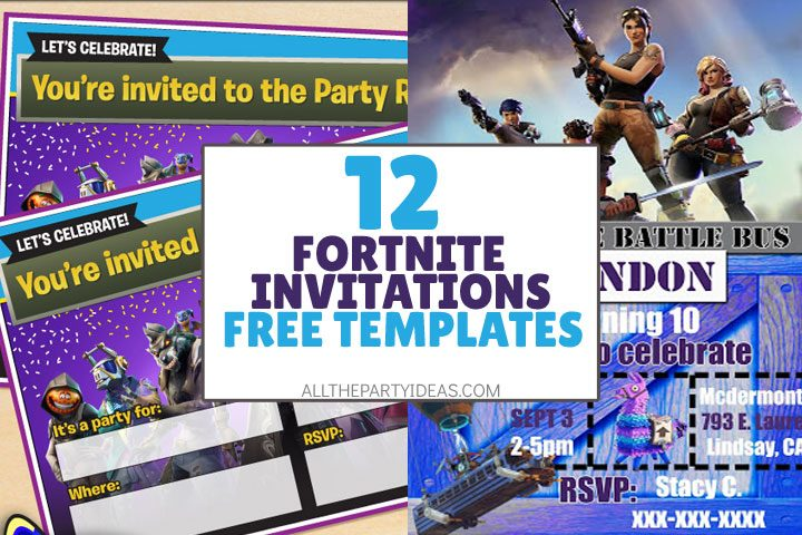 fornite invitation with free templates