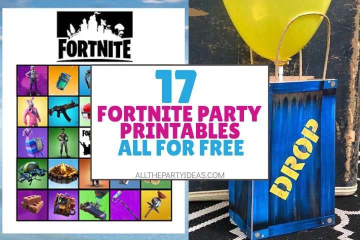 fortnite party printables all for free