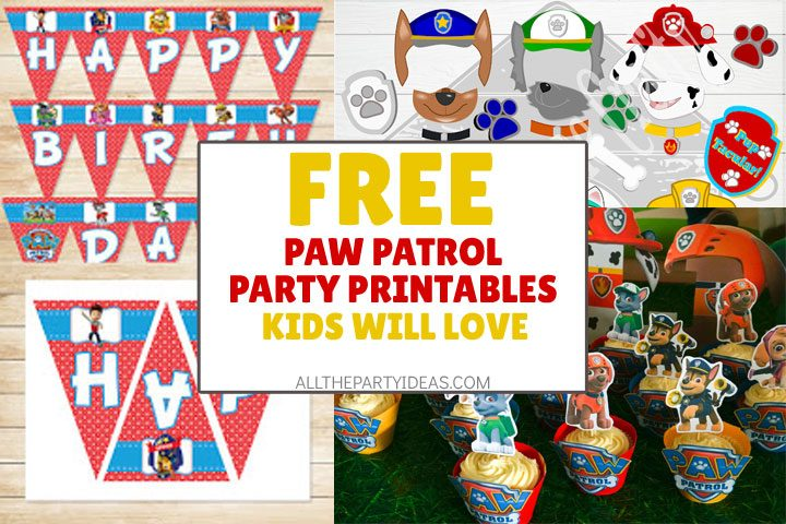 free paw patrol party printables kids will love