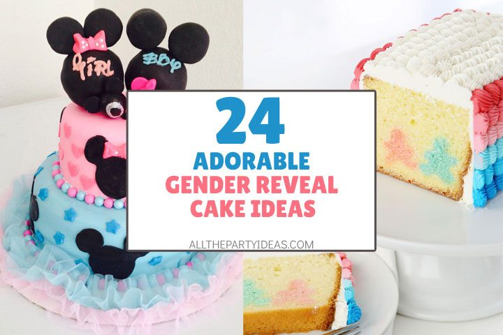 adorable gender reveal cake ideas