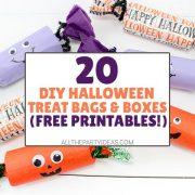 DIY Halloween Treat Bag Ideas & Boxes on a Budget