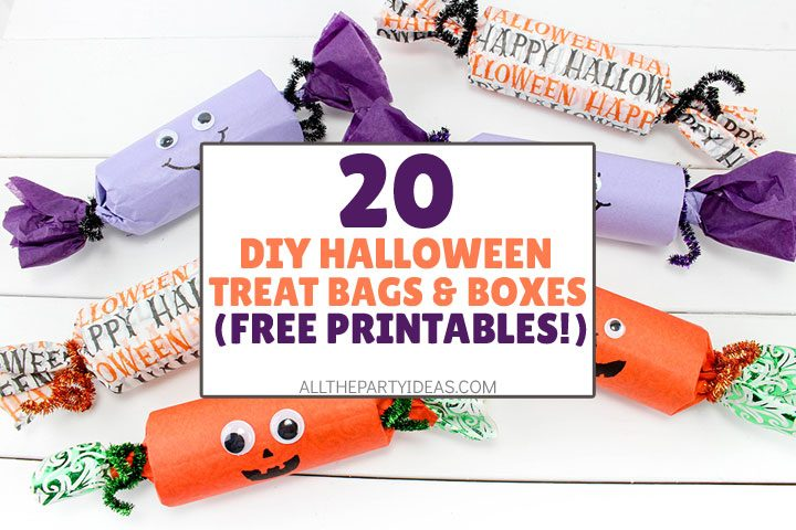 diy halloween treat bag ideas and boxes with free printables