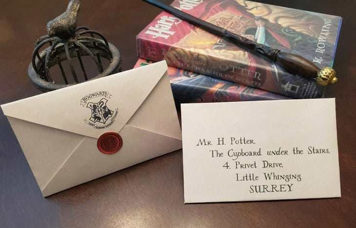 harry potter party invitation with hogwarts stamp and seal from etsy.