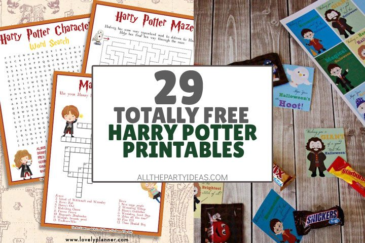 totally free harry potter printables