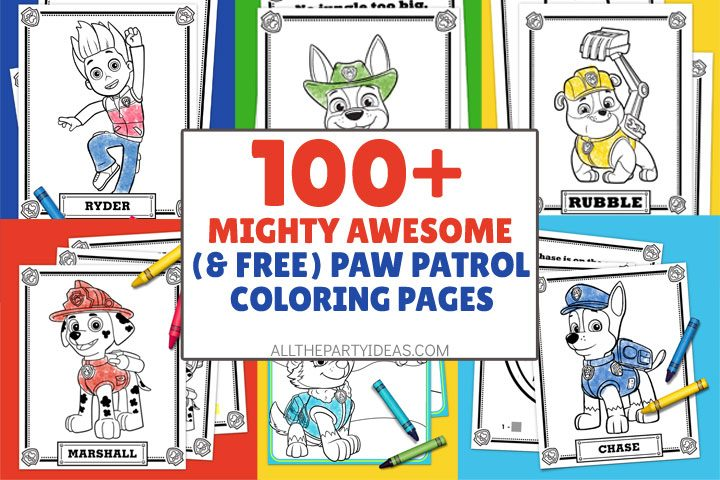 mighty awesome paw patrol coloring pages for free