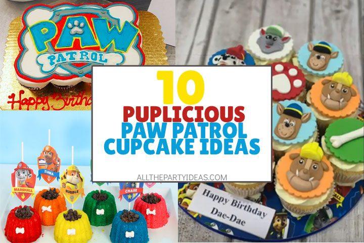 puplicious paw patrol cupcake ideas