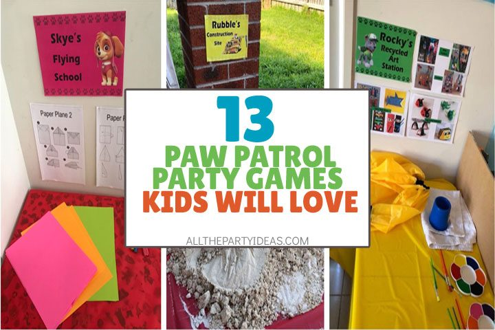 paw patrol party games kids will love