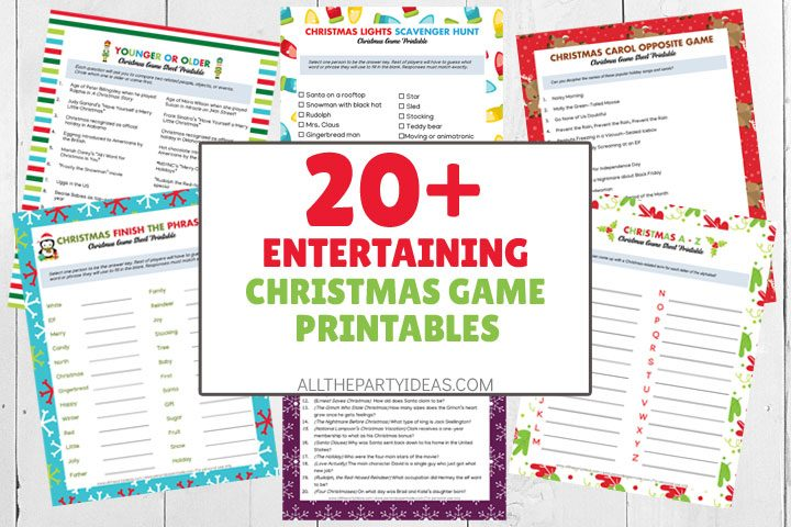 entertaining christmas game printables