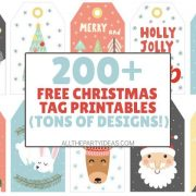 Printable Christmas Tags & Labels for Gifts, Presents