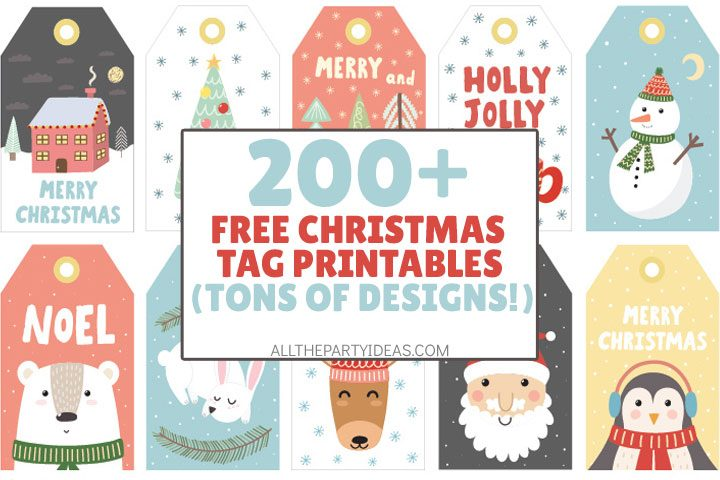 free christmas tag printables in tons of designs