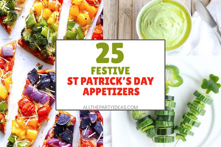 festive st patricks day appetizers