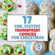 Thumbprint Christmas Cookies & Decoration Ideas - Recipes, Tutorials, Tips
