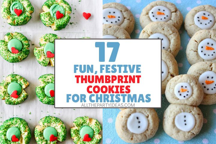 fun, festive thumbprint cookies for christmas