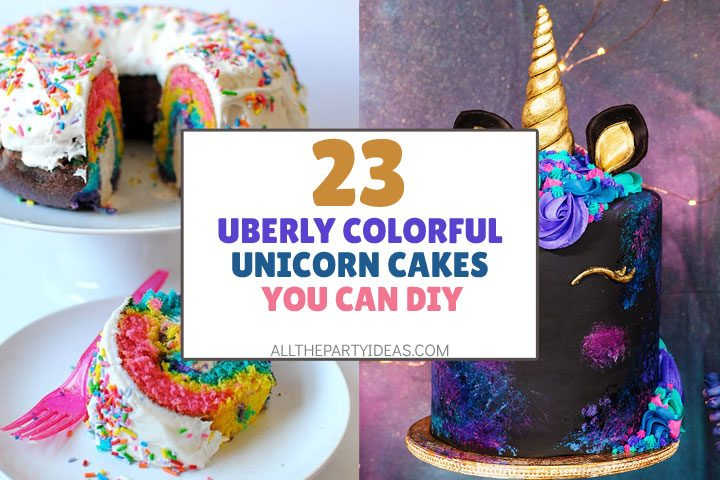 uberly colorful unicorn cakes to try