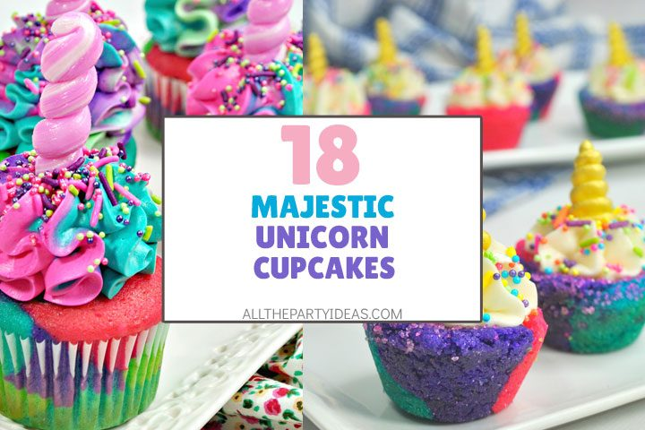 majestic unicorn cupcakes
