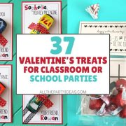 DIY Valentine's Treats for School - Party Favors & Goodie Ideas