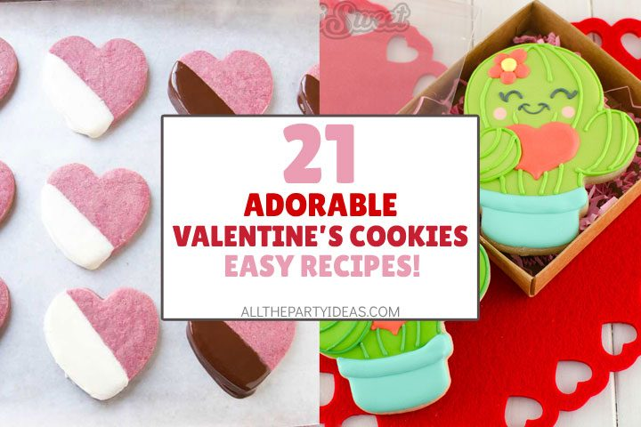 adorable valentine's cookies - easy recipes